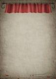 κόκκινο σχοινί κουρτινών Στοκ Φωτογραφίες