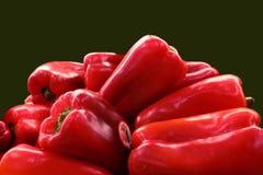 κόκκινο σωρών πιπεριών Στοκ Εικόνες