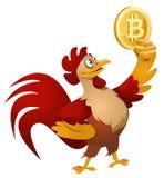 Κόκκινο σύμβολο εκμετάλλευσης κοκκόρων bitcoin Στοκ φωτογραφία με δικαίωμα ελεύθερης χρήσης