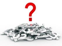 κόκκινο σύμβολο ερώτηση&sigma Στοκ φωτογραφία με δικαίωμα ελεύθερης χρήσης