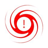 Κόκκινο σύμβολο τυφώνα απεικόνιση αποθεμάτων