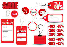 Κόκκινο σύμβολο ετικεττών πώλησης προτύπων Στοκ εικόνες με δικαίωμα ελεύθερης χρήσης