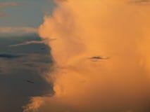 Κόκκινο σύννεφο Στοκ Φωτογραφία