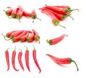 κόκκινο σύνολο πιπεριών τσίλι καυτό Στοκ φωτογραφίες με δικαίωμα ελεύθερης χρήσης