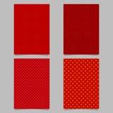 Κόκκινο σύνολο προτύπων κάλυψης φυλλάδιων σχεδίων καρδιών στοκ εικόνα με δικαίωμα ελεύθερης χρήσης