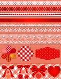 Κόκκινο σύνολο λευκώματος αποκομμάτων Στοκ Φωτογραφία