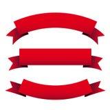 Κόκκινο σύνολο κορδελλών Στοκ φωτογραφία με δικαίωμα ελεύθερης χρήσης