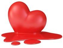 κόκκινο τήξης καρδιών Στοκ Εικόνα