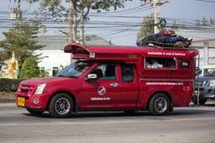 Κόκκινο ταξί Chiang Mai Υπηρεσία στην πόλη και γύρω Στοκ εικόνα με δικαίωμα ελεύθερης χρήσης