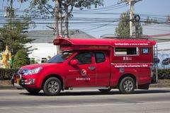 Κόκκινο ταξί Chiang Mai Υπηρεσία στην πόλη και γύρω Στοκ Φωτογραφίες