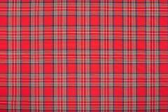 Κόκκινο ταρτάν, σκωτσέζικη σύσταση υφάσματος, υπόβαθρο Στοκ Εικόνες