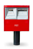 Κόκκινο ταχυδρομικό κουτί στην Ιαπωνία Στοκ Εικόνες
