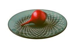 Κόκκινο τεμαχισμένο κρεμμύδι που απομονώνεται στο άσπρο υπόβαθρο στοκ φωτογραφία με δικαίωμα ελεύθερης χρήσης