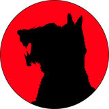 κόκκινο τεράτων Στοκ φωτογραφία με δικαίωμα ελεύθερης χρήσης