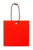 κόκκινο τετράγωνο ετικ&epsilon Στοκ Φωτογραφία