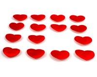 κόκκινο τετράγωνο καρδιώ&n Στοκ εικόνες με δικαίωμα ελεύθερης χρήσης