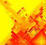 κόκκινο τετράγωνο ροής άμπωτης Στοκ Φωτογραφίες