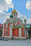 Κόκκινο τετράγωνο στη Μόσχα την παραμονή του εορτασμού των baptis Στοκ Εικόνες