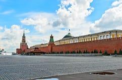 Κόκκινο τετράγωνο στη Μόσχα την παραμονή του εορτασμού των baptis Στοκ Φωτογραφίες