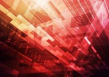 Κόκκινο τεχνολογίας πληροφοριών Στοκ Φωτογραφίες