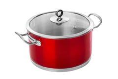 Κόκκινο τηγάνι χάλυβα Στοκ Εικόνα