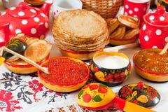 κόκκινο τηγανιτών χαβιαριώ Στοκ Εικόνα