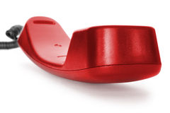 κόκκινο τηλέφωνο αγκιστριών Στοκ εικόνες με δικαίωμα ελεύθερης χρήσης