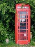κόκκινο τηλέφωνο κιβωτίων στοκ εικόνα
