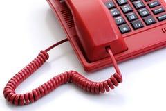 κόκκινο τηλέφωνο Στοκ Φωτογραφίες
