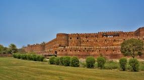 κόκκινο της Ινδίας οχυρών agra Στοκ Εικόνες