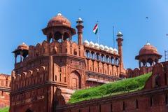 κόκκινο της Ινδίας οχυρών του Δελχί Στοκ Εικόνες