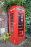 Κόκκινο τηλεφωνικό κιβώτιο Στοκ εικόνα με δικαίωμα ελεύθερης χρήσης