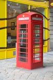 Κόκκινο τηλεφωνικό κιβώτιο Στοκ Εικόνες