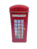 Κόκκινο τηλεφωνικών θαλάμων της Αγγλίας Στοκ φωτογραφία με δικαίωμα ελεύθερης χρήσης