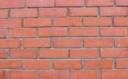 Κόκκινο τοίχος τούβλων ή υπόβαθρο Στοκ φωτογραφία με δικαίωμα ελεύθερης χρήσης