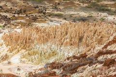 Κόκκινο τοπίο Tsingy σε Antsiranana, Μαδαγασκάρη Στοκ Εικόνα