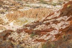 Κόκκινο τοπίο Tsingy σε Antsiranana, Μαδαγασκάρη Στοκ Εικόνες
