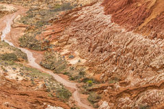 Κόκκινο τοπίο Tsingy σε Antsiranana, Μαδαγασκάρη Στοκ Φωτογραφίες