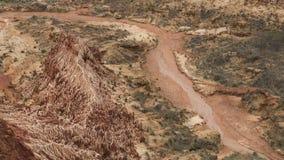Κόκκινο τοπίο Tsingy σε Antsiranana, Μαδαγασκάρη Στοκ φωτογραφία με δικαίωμα ελεύθερης χρήσης