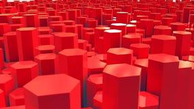 κόκκινο τοπίων δεκαεξαδ Στοκ Εικόνες