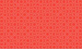 375 κόκκινο τορνευτικό πριόνι κομματιών γρίφων - διάνυσμα Στοκ Εικόνα
