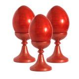 κόκκινο τρία αυγών Πάσχας Στοκ φωτογραφία με δικαίωμα ελεύθερης χρήσης