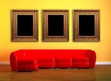 κόκκινο τρία εικόνων πλαι&sigm διανυσματική απεικόνιση