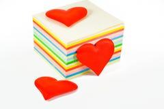κόκκινο τρία καρδιών Στοκ εικόνα με δικαίωμα ελεύθερης χρήσης