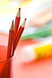 κόκκινο τρία μολυβιών Στοκ φωτογραφία με δικαίωμα ελεύθερης χρήσης