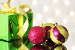 κόκκινο τρία Χριστουγέννω Στοκ Εικόνες