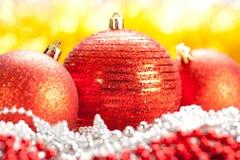 κόκκινο τρία Χριστουγέννω στοκ φωτογραφία με δικαίωμα ελεύθερης χρήσης
