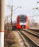κόκκινο τραίνο Στοκ εικόνες με δικαίωμα ελεύθερης χρήσης
