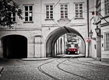 κόκκινο τραμ Στοκ φωτογραφία με δικαίωμα ελεύθερης χρήσης