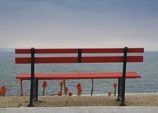κόκκινο τραπεζών Στοκ Εικόνες
